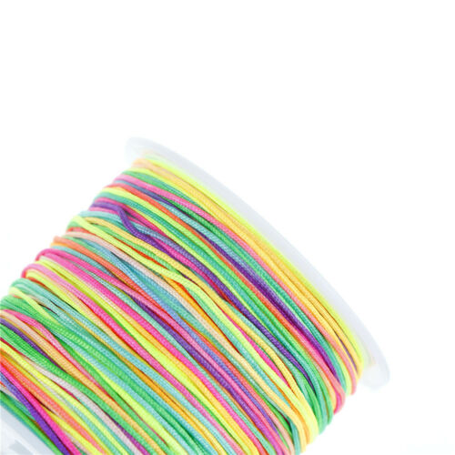 45m lot 0.8mm Regenbogen Quaste Schnur Armband Halskette Linie WachsfadenPDH