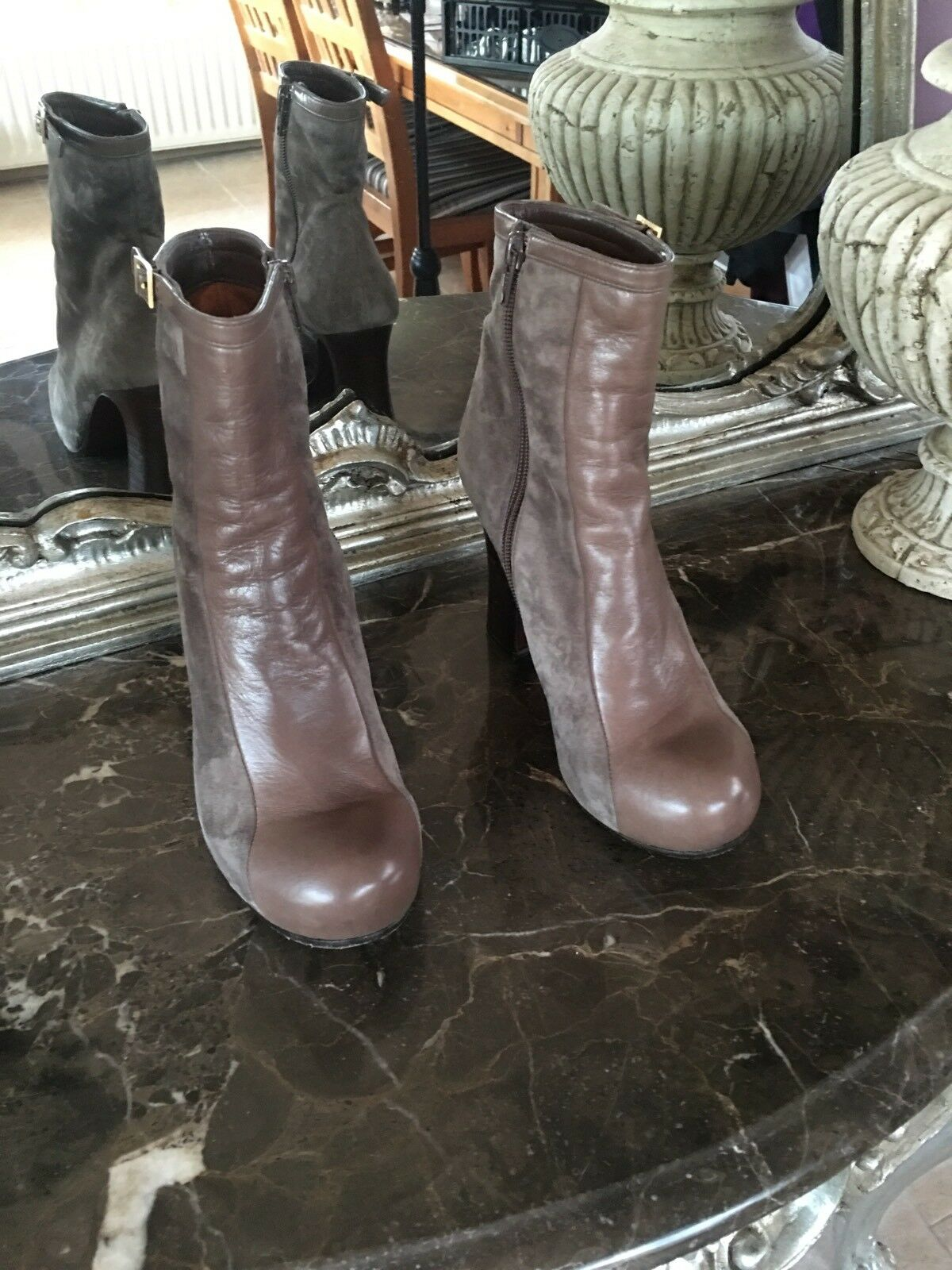 ✨Chie Worn Mihara Taupe/Stone Stiefel ✨UK 4 EU 37- Worn ✨Chie Once c478a9