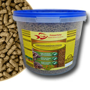 Landschildkroeten-Sticks-10-Liter-Eimer-3-3-kg-Schildkroetensticks-Reptilien