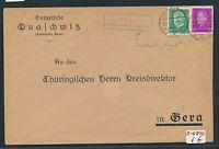 91888) DR   DDR Landpost Ra2 Quaschwitz Pössneck Land, Brief 1931