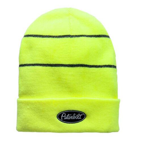 Peterbilt Trucks Motors High-Vis Safety Day-Glo Yellow Winter Beanie Cap
