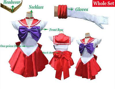 Sailor Moon Sailor Mars/Rei Hino/Raye Hino Uniform Cosplay Clothing Costume 04