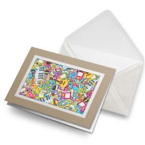 Greetings-Card-Biege-Musical-Music-Teacher-Band-3945
