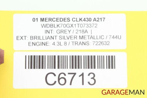 98-03 Mercedes W208 CLK320 CLK430 Front Right Side Sunvisor Sun Visor Shade Gray
