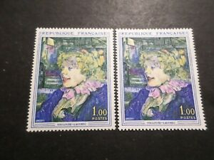 France 1964, Variete Levres Noires Timbre 1426 Tableau Neuf** Mnh Stamp, Variety