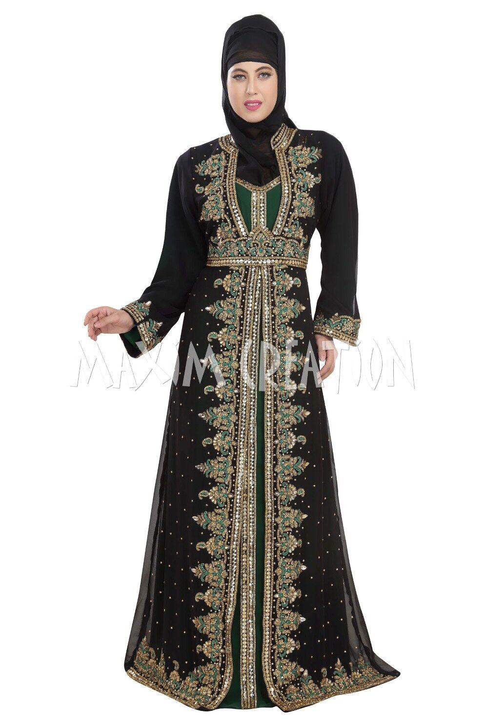 ELEGANT FANCY JILBAB ARABIAN ISLAMIC WEDDING WEDDING WEDDING GOWN PARTY WEAR DRESS 5517 53b165