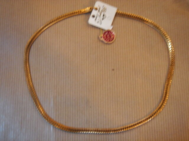 Chain gold Plated Mesh Braided Long 40 cm 17g Vintage New