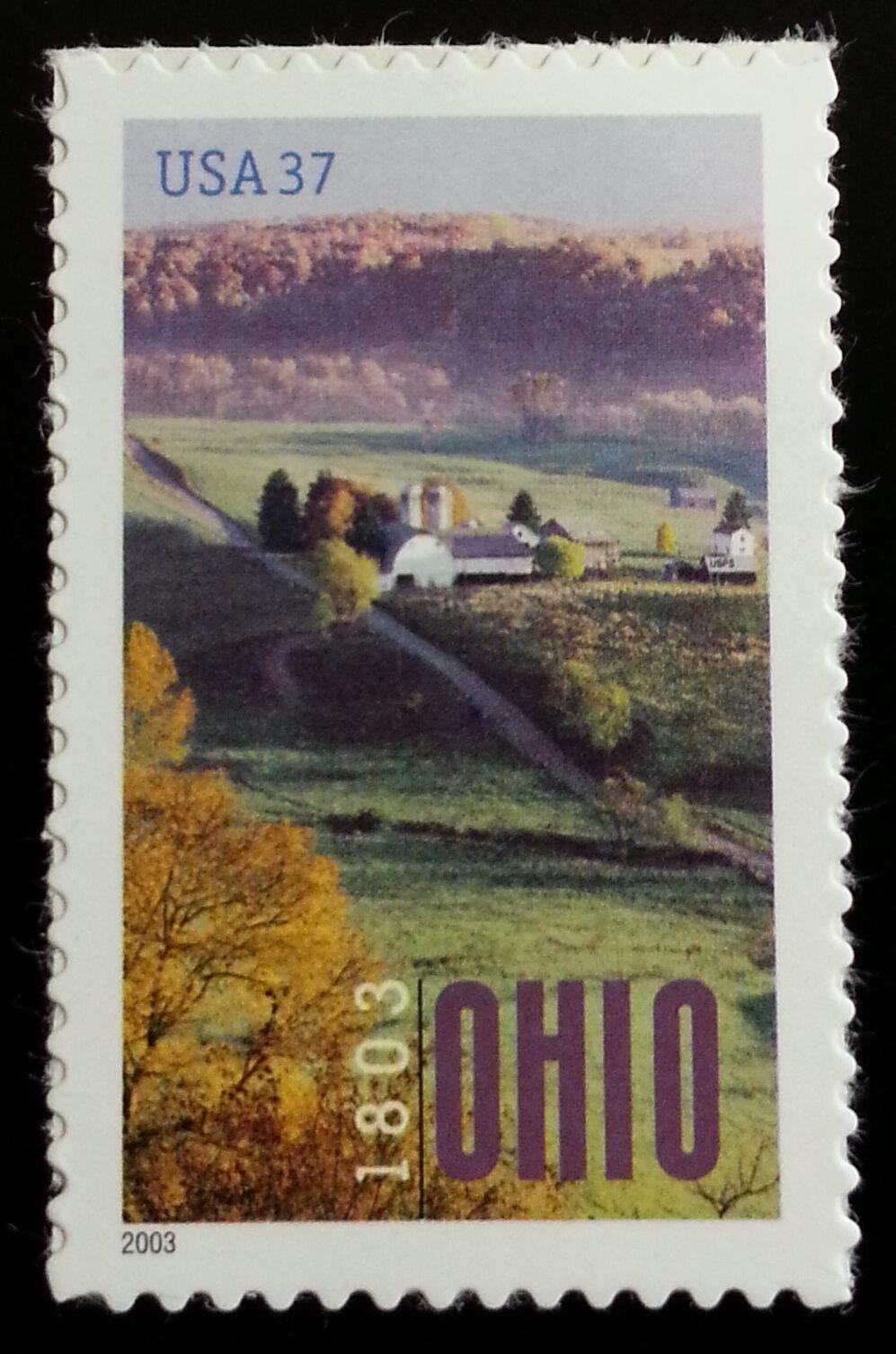 2003 37c Ohio Statehood, 200th Anniversary Scott 3773 M