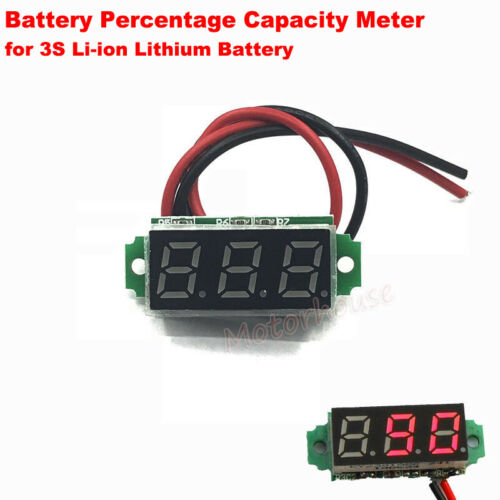 Percentage Level Capacity Indicator Meter Li-ion 18650 Battery Pack BMS Guage