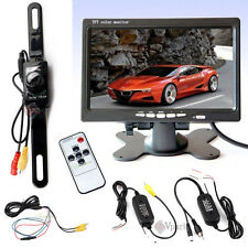 "7"" TFT LCD Car Monitor & Wireless Backup Rear View Camera DC 12V w Night Vision"