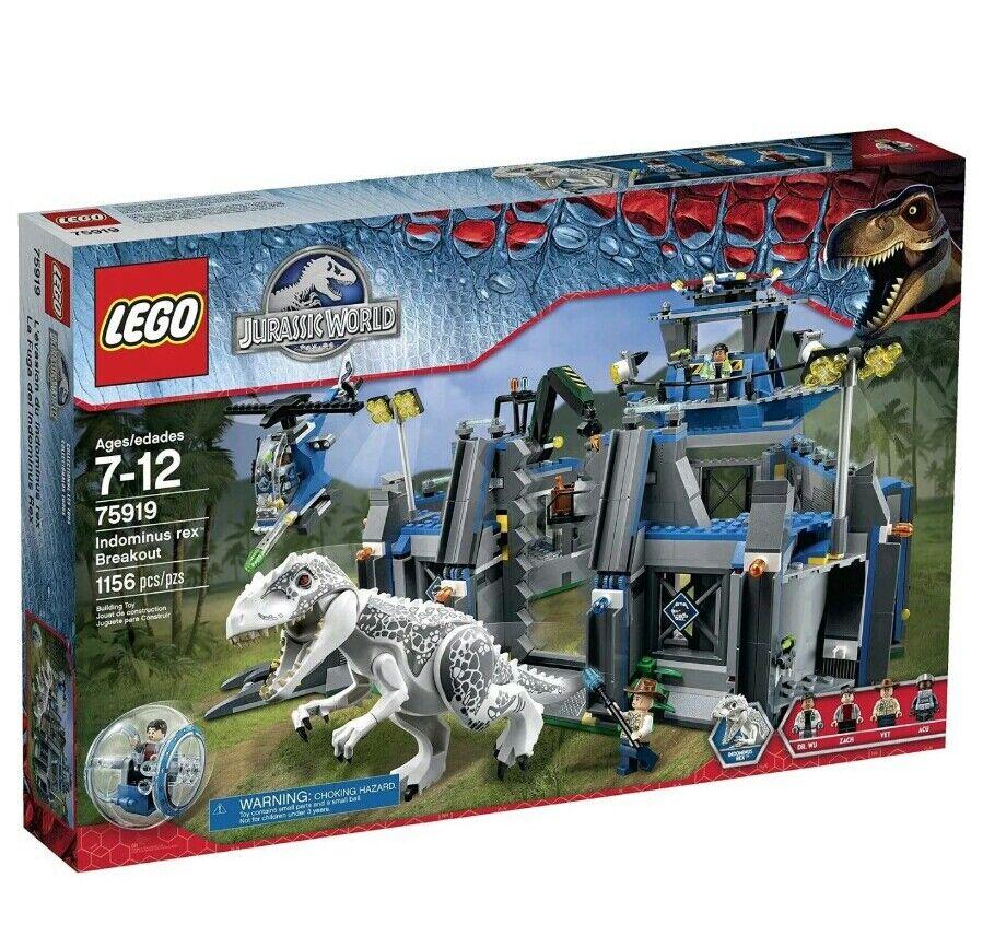 LEGO Jurassic World Indominus Rex Breakout 75919 Brand Nuovo Sealed 1156 Pcs READ