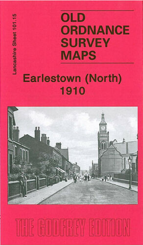OLD ORDNANCE SURVEY MAP EARLESTOWN NORTH 1910 HAYDOCK GREEN ST JOHN STREET