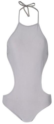 Womens Cut Out Open Back Tie Backless Leotard Bodysuit Body Top