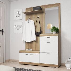 Garderobe Set Derin Schuhschrank Garderobe Mit Spiegel Schrank