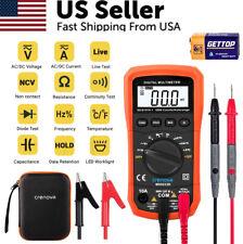 Crenova Digital Voltmeter Ammeter Ohmmeter Multimeter Volt Ac Dc Tester Meter