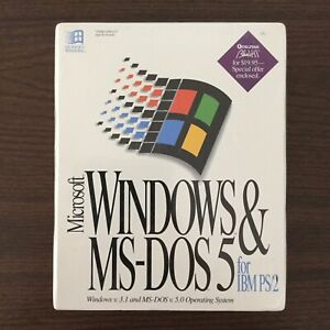 Microsoft-Windows-amp-MS-DOS5-For-IBM-PS-2-Windows-v-3-1-MS-DOS-v-5-0