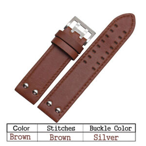 22mm-Double-Prong-Genuine-Leather-Watch-Band-Strap-fuer-Hamilton-Samsung-Gear-S3