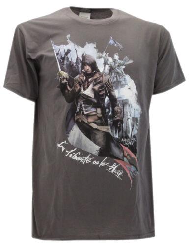 """T-shirt Assassin/'s Creed /""""La Liberté ou la Mort/"""" Grigio"""