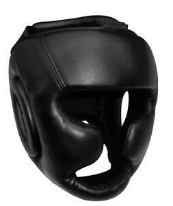 PFG-Black-Boxing-Headgear-head-Guard-MMA-Kickboxing-Training-Protective-Gear