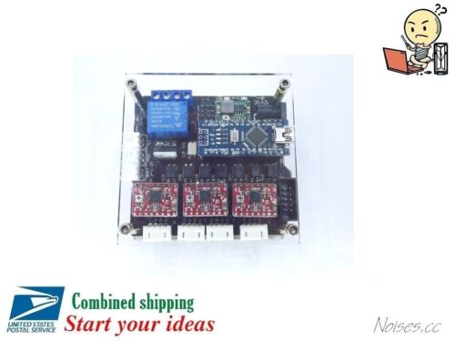 USB GRBL 3 Axis Stepper Motor Driver Board Controller Laser CNC Engraving Case