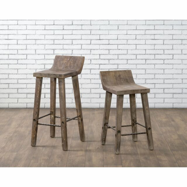 Magnificent The Gray Barn Gold Creek Natural Distressed Wood Counter Stool Chair Seat Unemploymentrelief Wooden Chair Designs For Living Room Unemploymentrelieforg