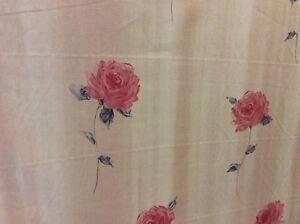"""Bon CœUr 10.70 M Prestigieux """"sisley"""" En Satin De Coton Rose Imprimé Tissu Rideaux Free Post-afficher Le Titre D'origine Le Prix Reste Stable"""