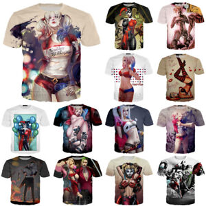 69c6063bc60a Comic Harley Quinn Funny Print 3D T-Shirt Women Men Casual Short ...