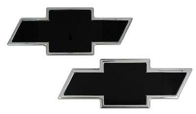 Front Grille/ Rear Tailgate Emblem Chevy Bow Tie Polished Boarder/ Black 96101KP