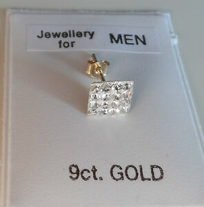 Image Is Loading Uk Made 9ct Gold Stud Earring 6mm Square