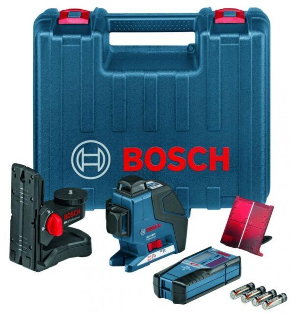 Bosch GLL 3-80P Linienlaser + BM1 Wandhalterung + LR2 Empfänger Set - FedEx