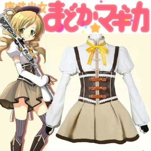 Puella Magi Madoka Magica Mami Tomoe Cosplay Costume Uk 799599904928