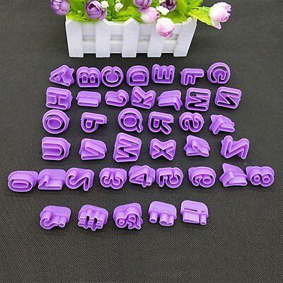 Fiducioso 40pcs Alfabeto Numero Lettera Fondente Decorazione Torte Glassa Set Cutter Mold Stampo- Sconti Prezzo