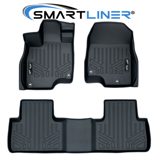SMARTLINER Custom Fit Floor Mats Liners Set Black For 2019