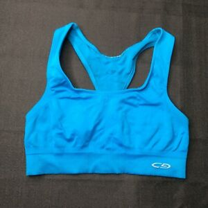 Champion-Light-Support-Womens-Teal-Blue-Sports-Bra-Size-Small-S-Athleisure