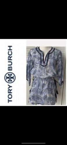 Tory Burch Tunic XS Caftan Coverup Beach Swim