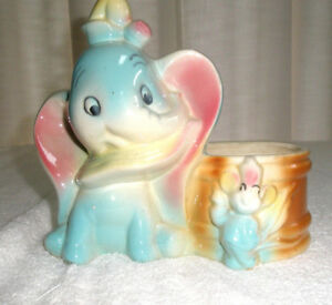 Vintage-DISNEYANA-Dumbo-Planter-Walt-Disney-Prod
