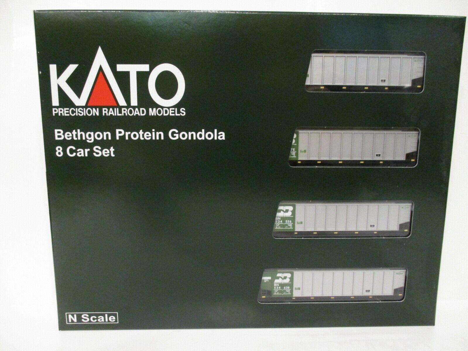 Kato scala N bethgon prossoeine GONDOLA 8 Auto SetBurlington NorthernBN 1