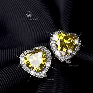 18k-white-gold-gf-made-with-SWAROVSKI-crystal-stud-citrine-earrings-925-silver