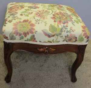 Mid-19th-Century-French-Louis-XV-Carved-solid-Mahogany-Footstool-new-upholstery