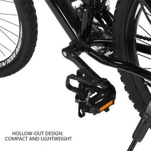 Durable-Bike-Cycle-Bicycle-Pedal-With-Toe-Clips-And-Straps-Lightweight-MTB-Road