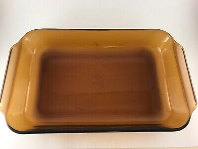 FIRE KING Anchor Hocking 2 QT Two Tone Red Black Ombre Casserole Dish