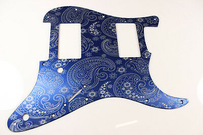 Red Anodized Paisley  Aluminum HXH HH Strat Pickguard Fits Fender Stratocaster