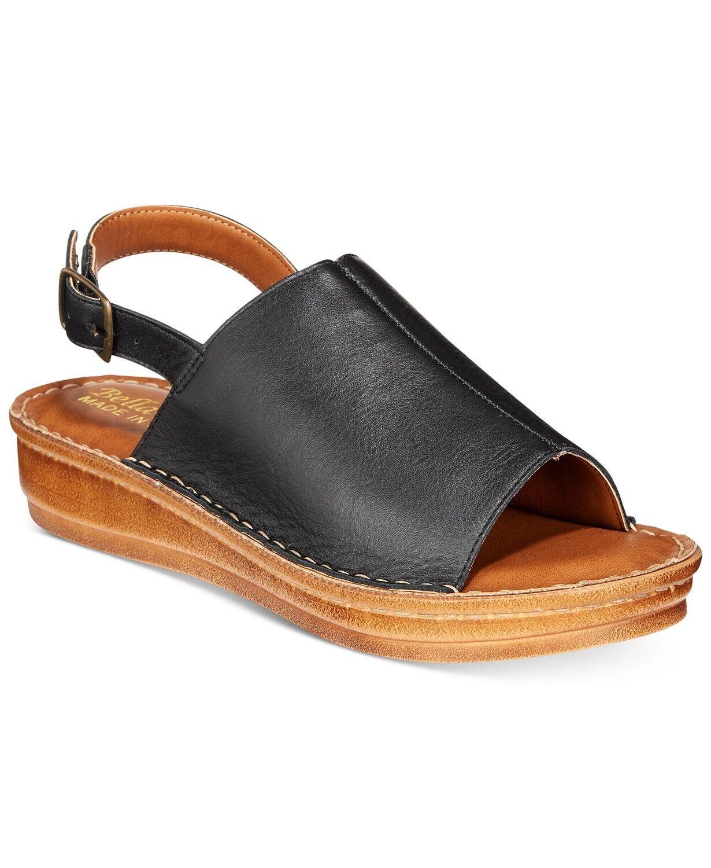 Bella Bella Bella Vita Negro Para mujeres Zapatos Ingenio-Italia Charol Sandalias De Cuña Punta rojoonda 10 W  Tu satisfacción es nuestro objetivo