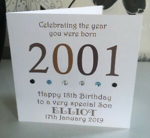 Image Is Loading 18th 2001 Year You Were Born Birthday Card