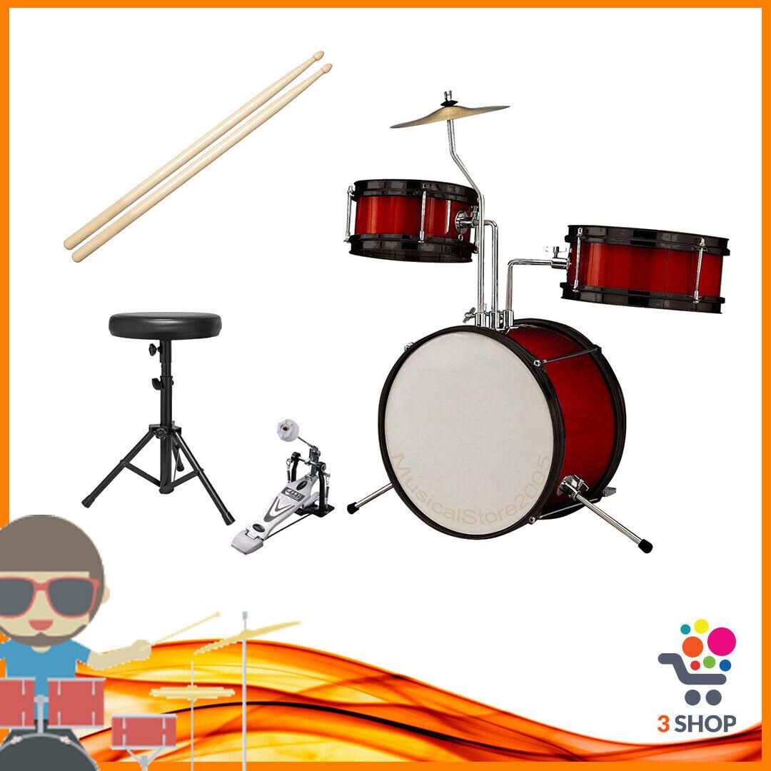 Batteria Acustica COMPLETA Musicale Stumento SET KIT per Bambini Percussioni