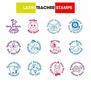Image Is Loading Self Inking Xclamations LATIN TEACHER STAMPS 12 Designs