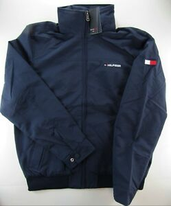 Details zu MEN'S TOMMY HILFIGER YACHT JACKET WINDBREAKER WATERSTOP NAVY BLUE 2XL XXL NWT