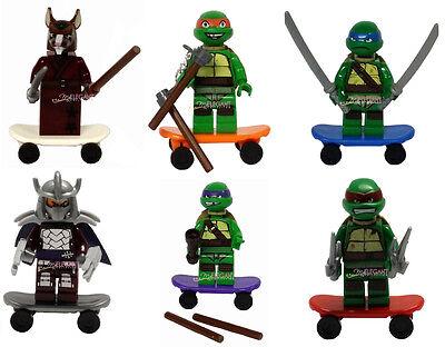 TMNT Teenage Mutant Ninja Turtles Shredder Splinter 6 Mini Figure Fits with Lego