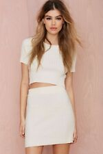 f70dc78e88e4 item 8 Nasty Gal Women's Ivory Knitz By For Love & Lemons Snuggler Ribbed  Skirt Size S -Nasty Gal Women's Ivory Knitz By For Love & Lemons Snuggler  Ribbed ...