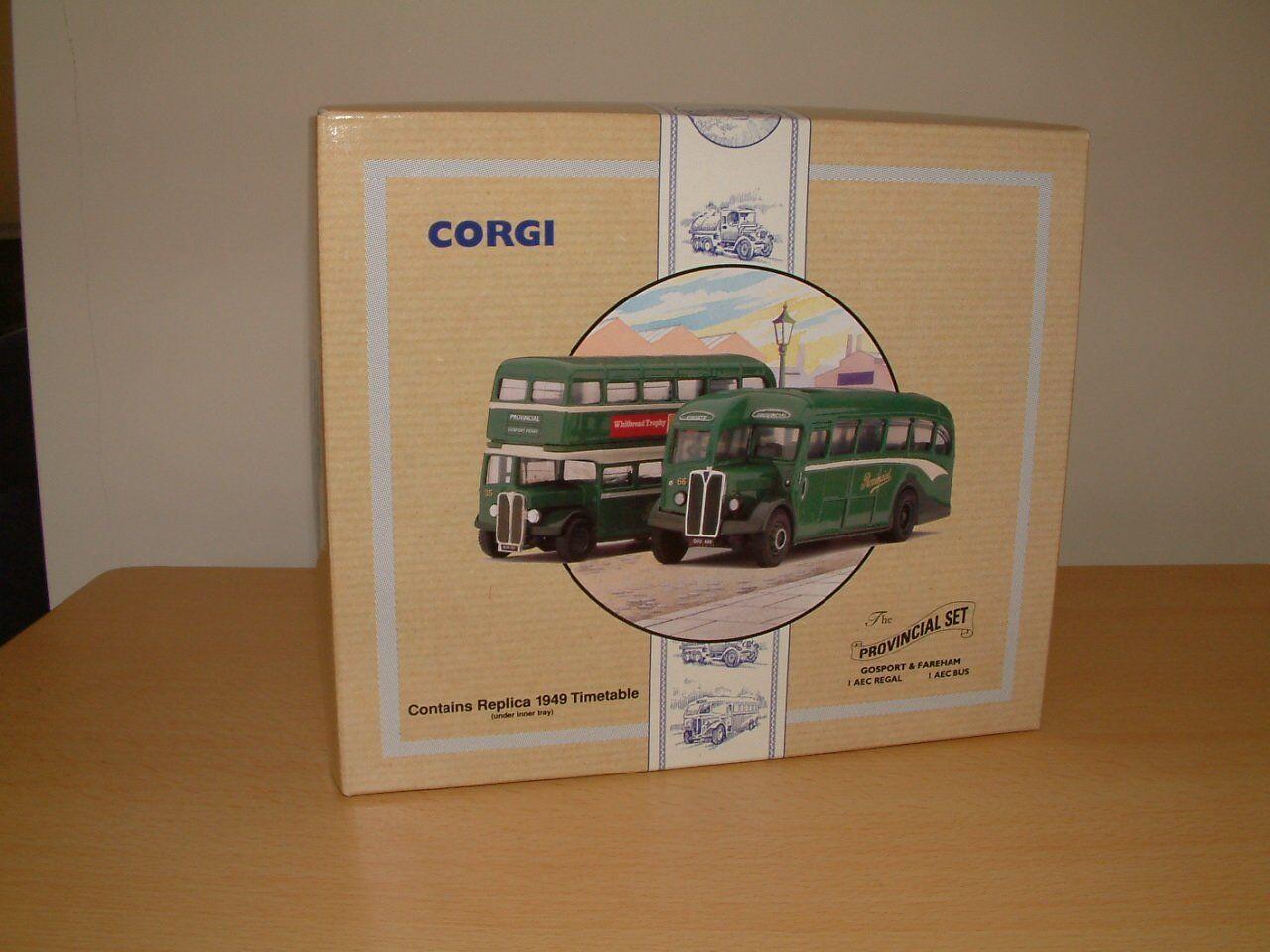 CORGI CORGI CORGI 97072 The Provincial Set Gosport & Fareham AEC Regal rgt c10bfe